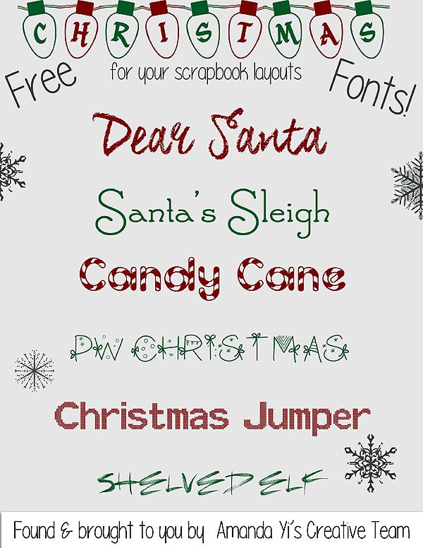 _christmas fonts_amanda yi