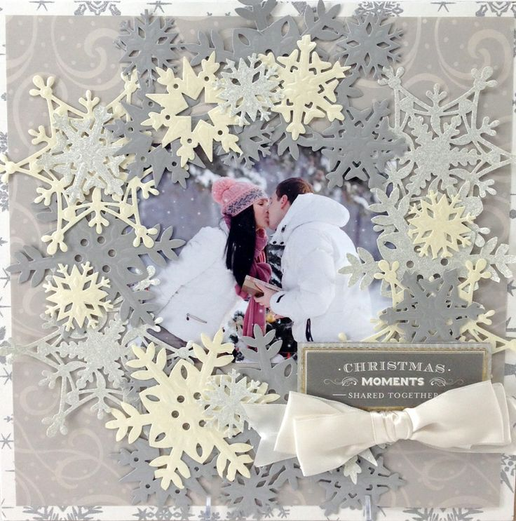 Talk about surrounding the photo with snowflakes. They frame this photo so wonderfully! All those snowflakes draw your eyes to the photo.