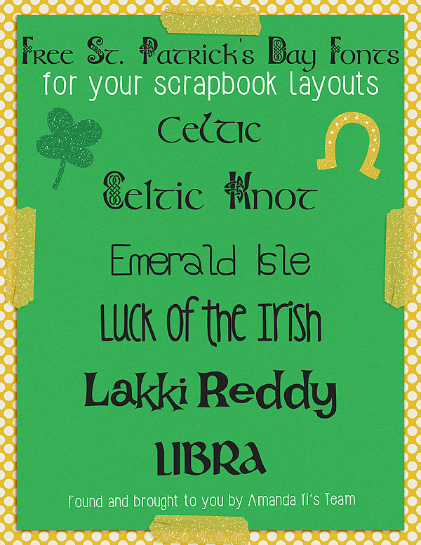 Free St. Patrick's Day Fonts