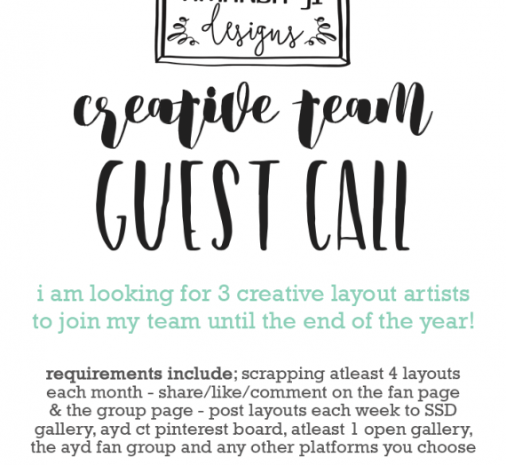 Creative Team Guest Call!!