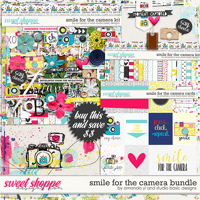 New Release 4/21 : Smile For The Camera by Amanda Yi & Studio Basic Designs